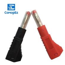 2pcs 4MM Pure Copper Banana Plug Retractable Connector for Audio Jack Speaker Plug Banana Plugs цена и фото