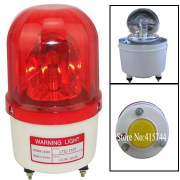 LTE 1101K Bulbs Rotating Warning Light With Buzzer Sound 110dB Red Amber Green Blue Alarm Emergency Bolt Bottom Lamp 12V in Alarm Lamp from Security Protection