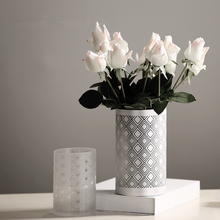 Nordic Style High Quality Desktop Furnishings Glass Vases Wedding Home Decoration Accessories Ornaments Flower Pot Pen Holder 40