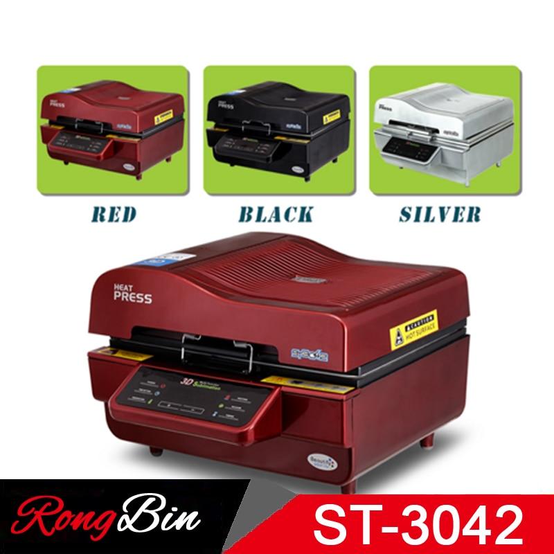 ST 3042 Paket 3D Vakuum Presse Maschine Wärme Drücken Drucker 3D Sublimation Hitze Presse Maschine für Fällen Tassen Teller Gläser - 5