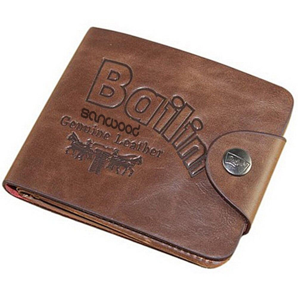 Mens Leather Wallet Card Clutch Purse Pockets Cente Bifold Money Clip ID Holder