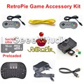 Raspberry Pi 3 Model B 16GB Preloaded RetroPie Game Console Accessories Kit with 5V 2.5A EU/UK/US/AU Power Supply