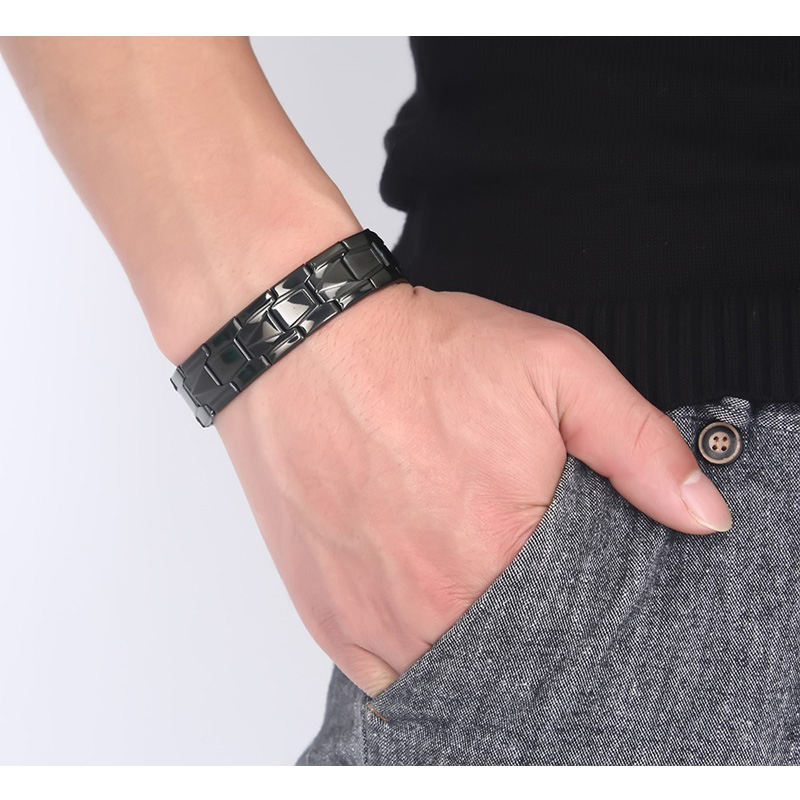 Vnox Stainless Steel Men Bracelets Jewelry Black Color Bracelet Bangle Punk Link Chain Male Pulsera opk punk cross bracelet for men length 16 5 21 cm mesh strap band stainless steel black gold color male wrap bracelets gh878