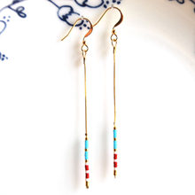 gold color fashion jewelry Dangle Earrings handmade earring with colorful MIYUKI Delica Beads for women gift Minimalist design(China)