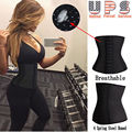 *USPS* waist trainer body corset shaper bodysuit women Sport Cincher Tummy Girdle Glass Hot Belt Control fajas fajas reductoras