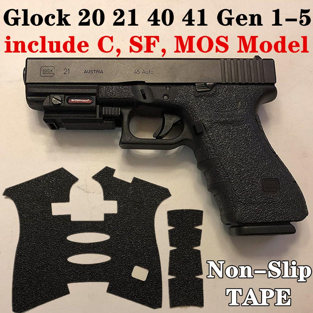 Non-slip Texture Rubber Grip Wrap Tape Glove for Glock 20 21 SF 40 41 MOS Pistol Gun Handle Frame Magwell Magazine Accessories image