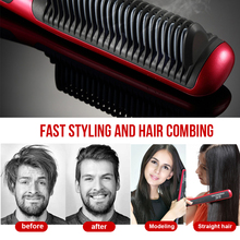 Beard Straighteners Comb lesgos Electric Hair Curling Curler Brush Wet and Dry Dual Use Anti-Scald Ceramic Ionic Hair Brush For