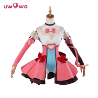 UWOWO DVA Cosplay D VA Game OW Kawaii Girl Pink Dress Costume Magic Girl D Va