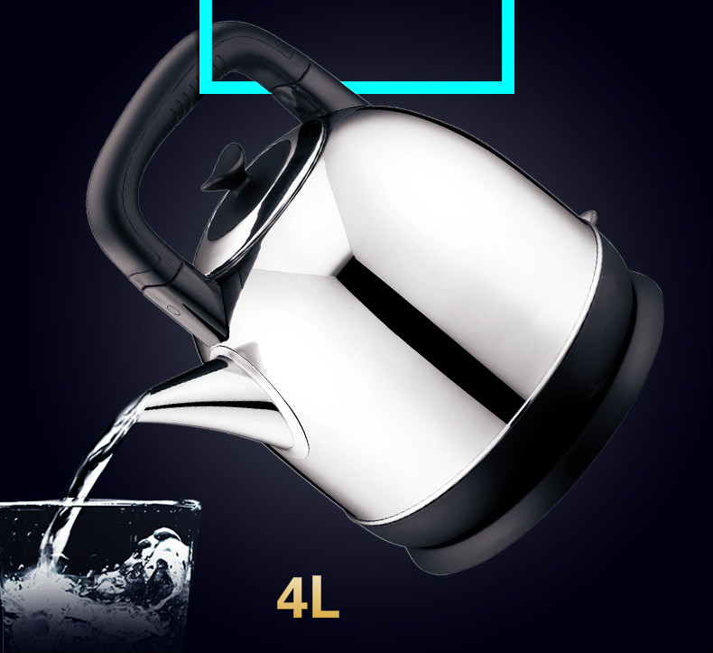 Automatic power failure stainless steel kettles 4L Safety Auto-Off Function купить в Москве 2019