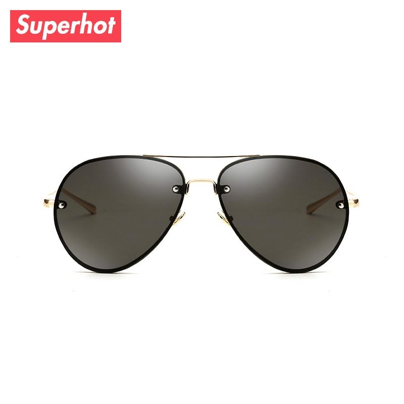 af462f345d34c Superhot Eyewear-Clássico Piloto óculos de Sol Das Mulheres Dos Homens de  Aviação SP3027 UV400 Shades óculos de Sol Quadro do Ouro Lentes Pretas