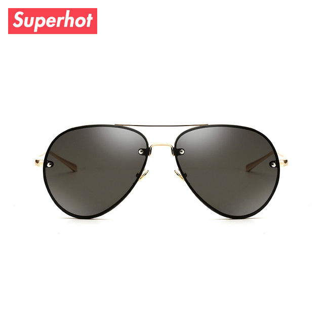 Superhot Eyewear - Classic Pilot Sunglasses Men Women Aviation Sun glasses  Shades Gold Frame Black Lenses UV400 SP3027 ab3372ac8c3