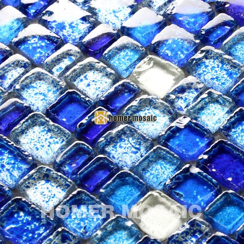unique irregular baroque mixed blue glass mosaic tiles for bathroom shower tiles kitchen backsplash tile HMGM0001 ocean blue pearl shell mosaic tile gray natural marble kitchen backsplash sea shell tiles subway glass conch wall tiles lsbk53