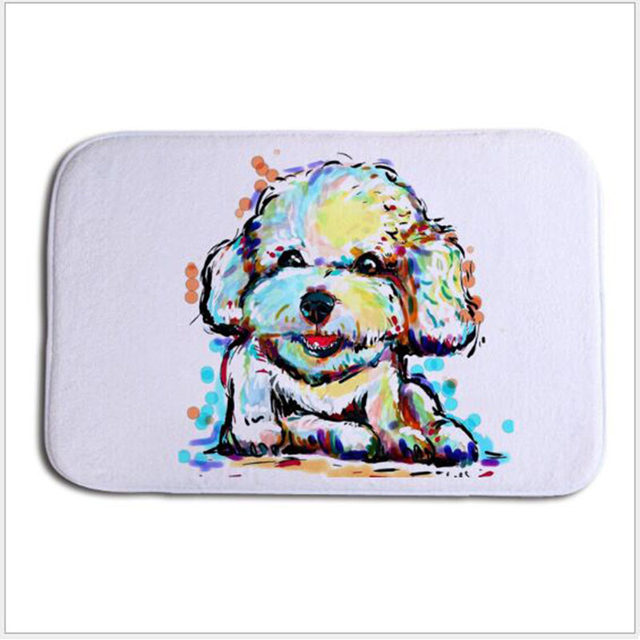 Cartoon Carpets Dog Area Rug For Porch Living Room Carpet Gy Anti Skid 40 60 Vloer Kleed Doormat Pet Pads Mat Tapete