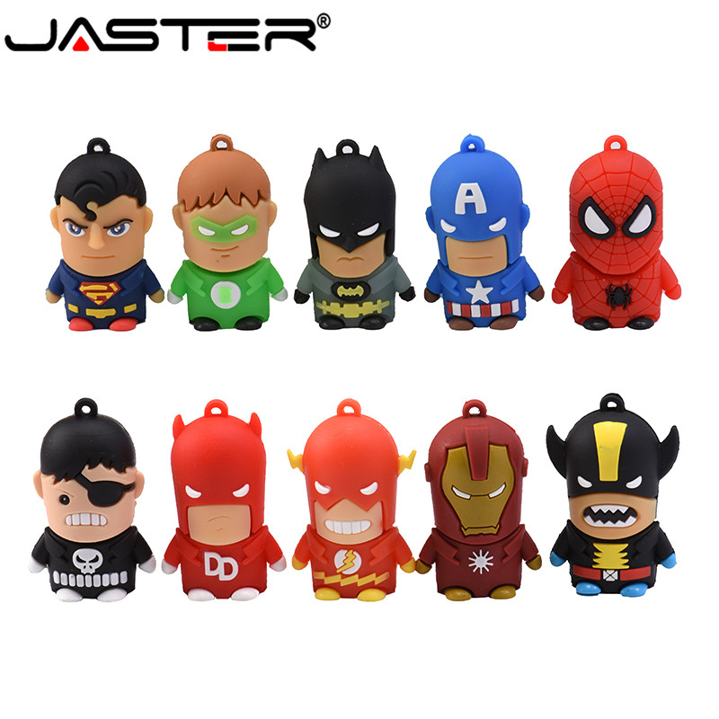 JASTER Usb 2.0 Hero Series Cartoon Anime USB Flash Drive For Cars USB 4GB/8GB/16GB/32GB USB Flash Drive Storage Flash Disk