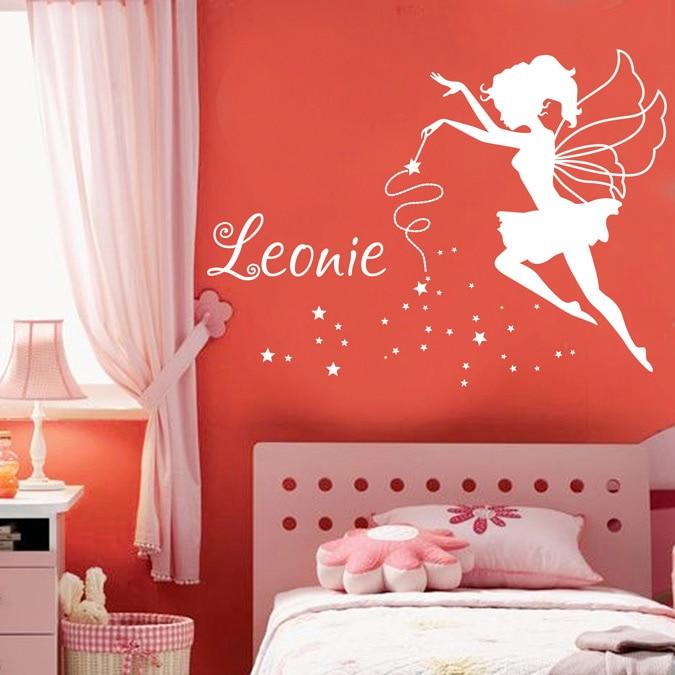 JJRUI εξατομικευμένες Fairy Vinyl τοίχο - Διακόσμηση σπιτιού - Φωτογραφία 2