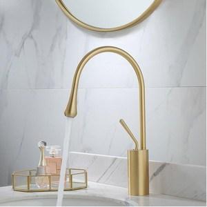 Image 3 - Новый смеситель для раковины однорычажный латунный смеситель с поворотом на 360 градусов для раковины в кухне или ванной комнате смеситель для раковины Золотая щетка