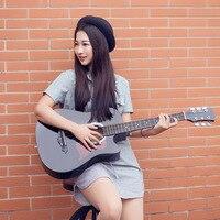 Linda Linda 38 Inch Sapele Acoustic Guitar For Beginners To Practice Guitar Instrument Jita Students
