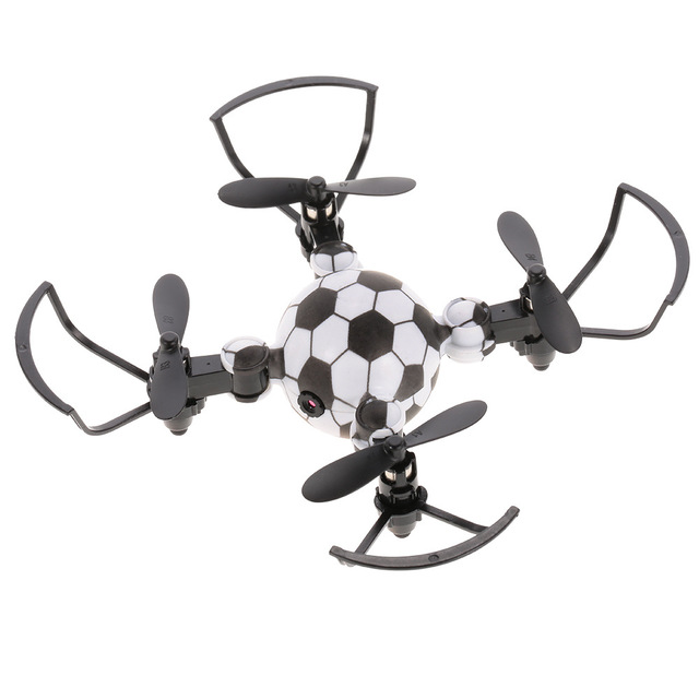 Drone Camera 0.3MP Foldable Watch Remote Control Aircraft Football shape Flying Gifts for Kids RC Flight simulator 2.4G Mini 1