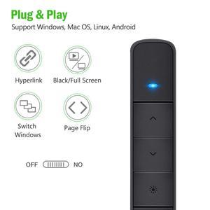 Image 5 - Knorvay N78 şarj edilebilir kırmızı lazer işaretçi USB bellek disk işık kablosuz Presenter PowerPoint Clicker sunum uzaktan