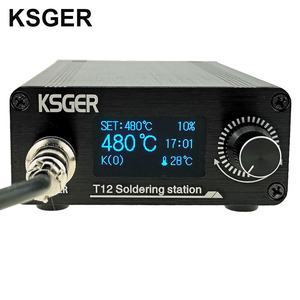 Image 1 - KSGER T12 OLED Soldering Station T12 Iron Tips STM32 DIY Assembled Kits ABS Plastic FX9501 Handle Electric Tools Welding Heating