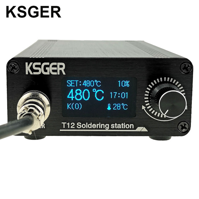 KSGER T12 OLED Soldering Station T12 Iron Tips STM32 DIY Assembled Kits ABS Plastic FX9501 Handle Electric Tools Welding Heating