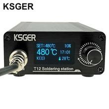 Ksger T12 oled はんだステーション T12 ヒント STM32 diy の組み立てキット abs プラスチック FX9501 ハンドル電動工具溶接加熱