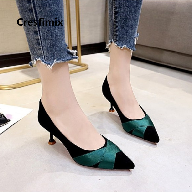 Cresfimix women fashion sweet comfortable slip on office high heel pumps lady leisure cool high heels femmes hauts talons a3057 cresfimix femmes hauts talons women fashion comfortable slip on pu leather high heel shoes lady cute sweet office shoes b2915