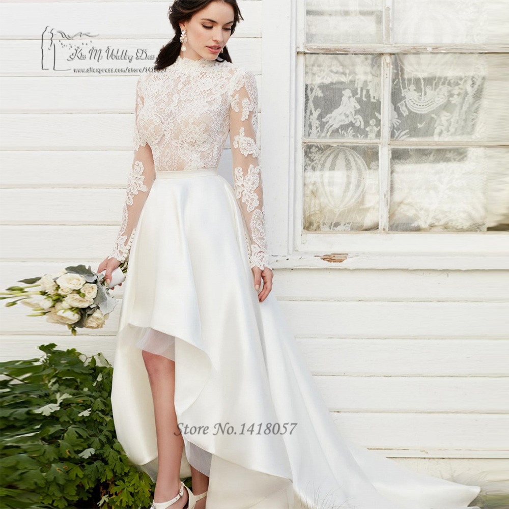 Aliexpress.com : Buy Boho High Low Wedding Dresses Short