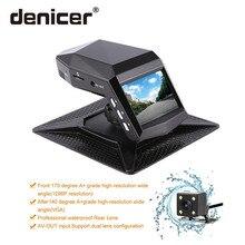 Denicer Full HD 1080p двойной объектив Dash Cam Novatek 96658 DVRS 170 градусов широкоугольный Автомобильный Видео Recoder с g-сенсорной задней камерой