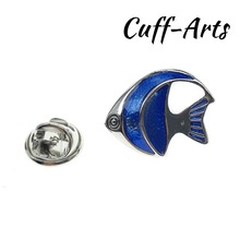Cuffarts Lapel Pin For Blue Tropical Fish Pride Women Accessories  Brooch Hijab Pins Enamel Broche Pusheen P10067