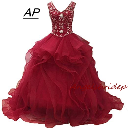 ANGELSBRIDEP Ball Gown Vestidos De 15 Anos Quinceanera
