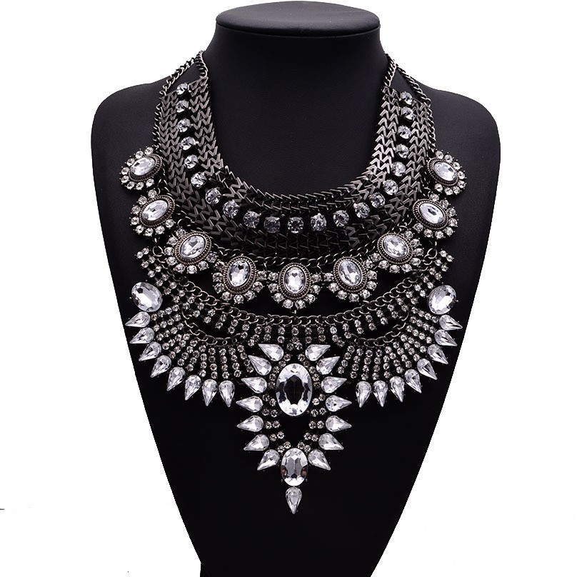 HTB1IM7PaIfrK1Rjy1Xdq6yemFXaU - Miwens Collar Za Necklaces Pendants Vintage Crystal Maxi Choker Statement Silver Color Collier Necklace Boho Women Jewelry