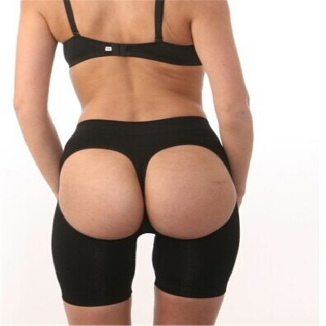 Butt bragas de la talladora Lifter Butt Enhancer tallas grandes mujeres Sexy belleza botín levantador 2015 sin costuras de color caqui negro que adelgaza faja