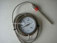 цены SS304,  0 C to 250C  2M Capillary bimetal thermometer