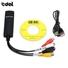 EDAL USB 2.0 Easycap Audio Video DVD VHS Record Capture Card Converter PC Adapter(China)