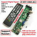 Z. VST.3463.A Soporte DVB-C DVB-T DVB-T2 en lugar de T. RT2957V07 Universal TV LCD Tablero de Conductor Del Controlador Mejor que V56