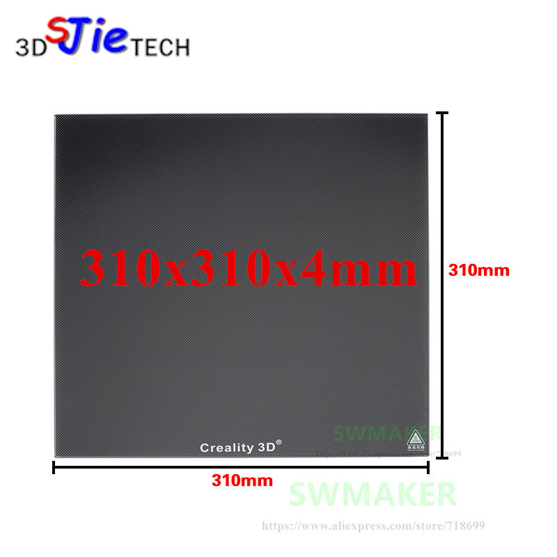 310x310x4mm 400Deg Upgrade Ultrabase 3D Printer Self-adhesive Build Surface Glass plate for Creality CR-10 Series Heated Bed 400deg upgrade ultrabase self adhesive build surface glass plate 310x310mm for creality cr10 cr 10 series 3d printer