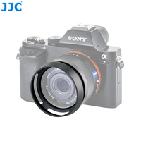 JJC Metal Circle Lens Hood Protector for SONY DSC RX1/RX1R/RX1R II Digital Camera Replaces LHP 1