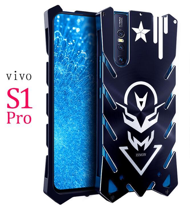 VIVO S1 Pro Zimon Luxo New Thor Heavy Duty Armadura De Metal de Alumínio Caso de Telefone Para A VIVO S1 VIVO U1 X27 y91 Y97 Y93 V15 Pro Caso