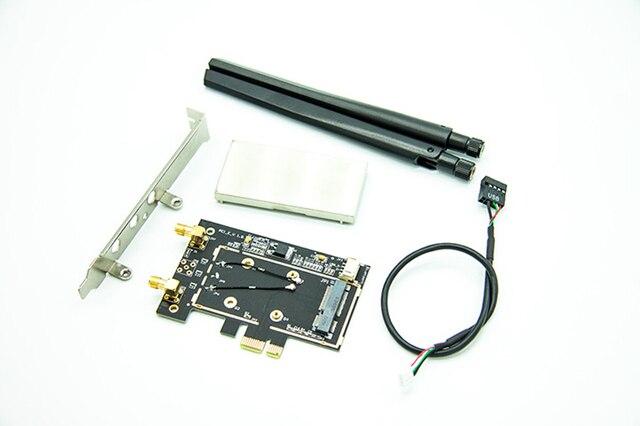 Беспроводной Сети mini PCI-E Карты для Настольных PCI-E Адаптер Конвертер ж/Bluetooth