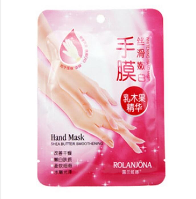 10PCS=5PAIRS ROLANJONA Hand SKIN Care Hand Mask Shea Butter Essence Soft Whitening Hand  ...
