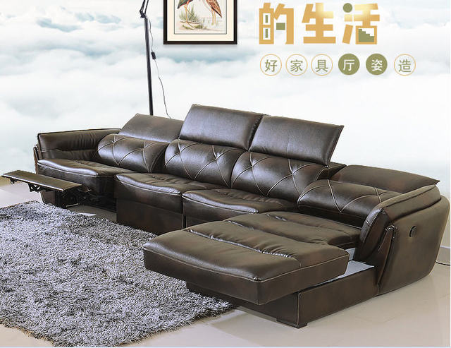 Living Room Sofa Set Corner Recliner Electrical Genuine Leather Sectional Sofas Modern Muebles De Sala