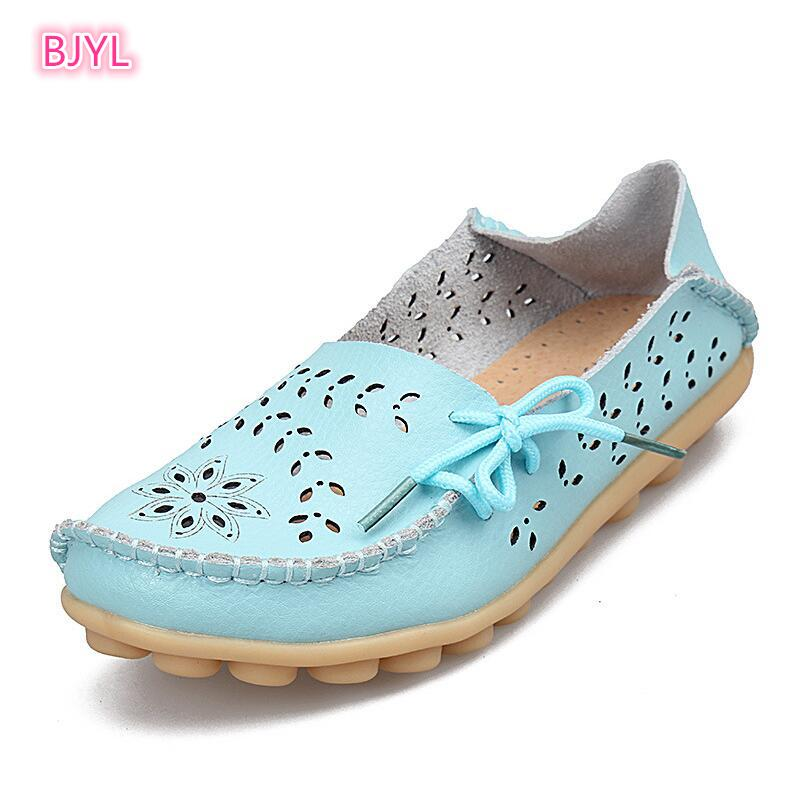 Buy BJYL New nurses, shoes, mothers, flat bottom, low heels, leisure, soft bottom, elderly women's condoms.