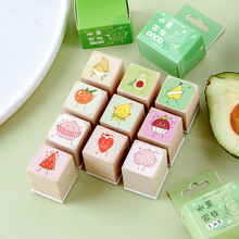 Vintage Fruit series wood rubber stamps for scrapbooking stationery DIY standard wooden stamp