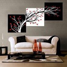Украшение Дома рамки стены книги по искусству живопись плакат 3 Панель абстрактный дерево для Гостиная Современные HD печатных холст
