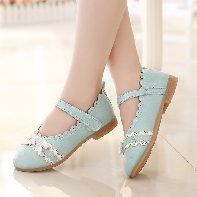 2016 sapatos princesa criança meninas crianças do sexo feminino sapatos de couro sapatos de festa Casual com arco primavera / outono sapatos de couro
