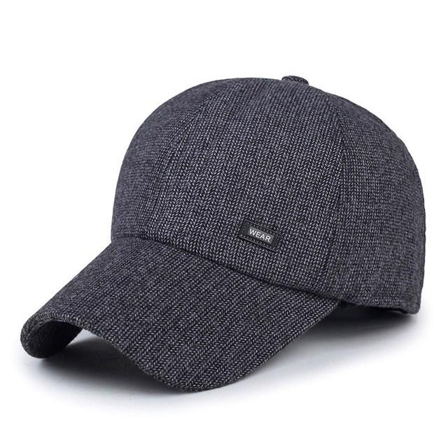 Moda homem velho chapéu de inverno ao ar livre manter aquecido mais velho tampão do inverno ao ar livre esporte lazer viseira bonés de beisebol masculino térmica