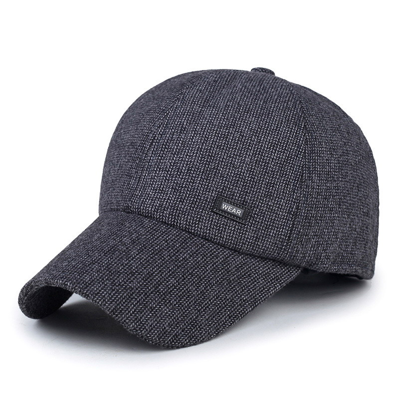 fashion old man winter hat outdoor keep warm older cap sport baseball caps male thermal leisure visor
