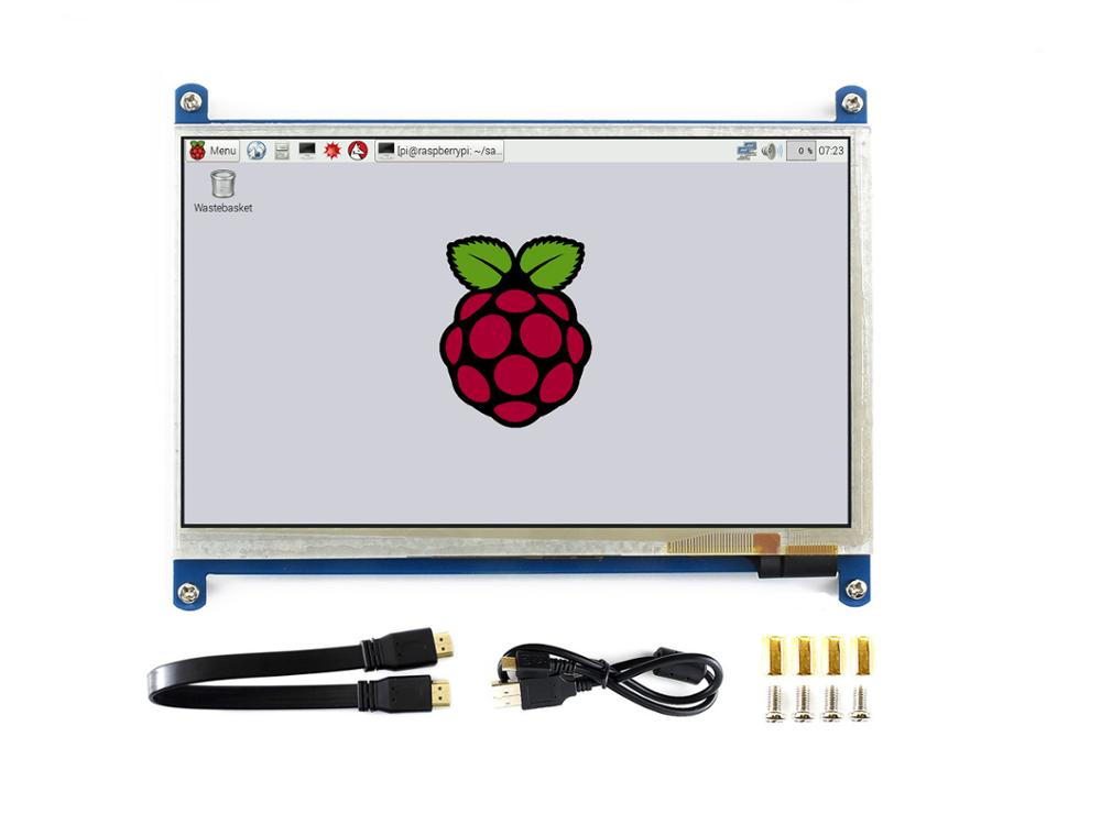 Waveshare7inch HDMI LCD (B) ,800*480, 7'' Capacitive Touch Screen,HDMI interface, for Raspberry Pi,Support Windows10/8.1/8/7-in LCD Monitors from Computer & Office