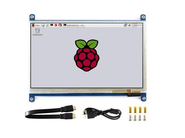 Waveshare7inch HDMI LCD (B), 800*480, 7 קיבולי מסך מגע, HDMI ממשק, עבור פטל Pi, תמיכה Windows10/8.1/8/7